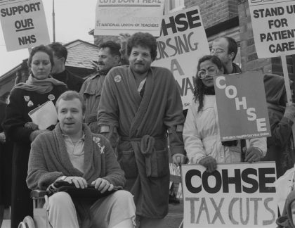 Demonstration against NHS Cuts at St. Anne's Hospital, 1988