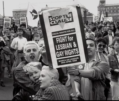 Demonstration for Lesbian and Gay Rights, London 1988