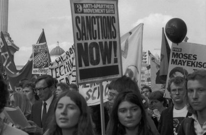 Anti -Apartheid Demonstration, London