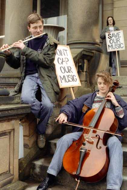 'Save our Music' protest, Derby 1991.