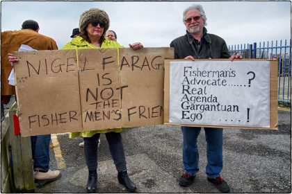 Fishermen's EU Protest- Whitstable- Gerry Atkinson