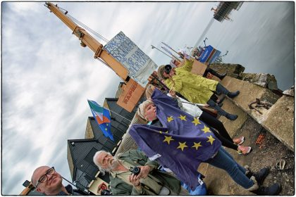 Pro European Demonstrators- Whitstable Gerry Atkinson