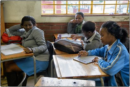 Students at Intsebenziswano School, Philippi.