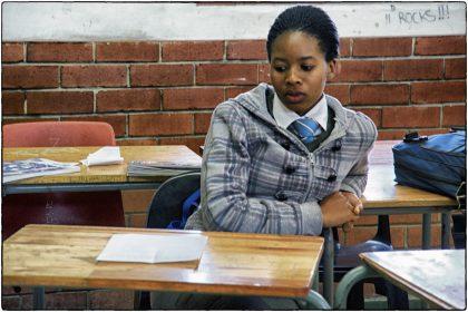 Student at Intsebenziswano School, Philippi.