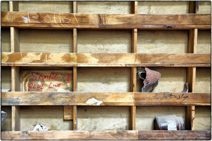 Shelves at The Carpenter's Shop Cape Town.