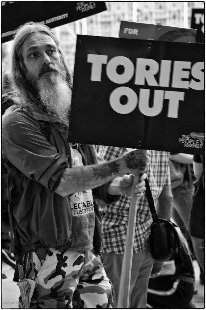 Anti -Austerity Demonstration -London- Gerry Atkinson