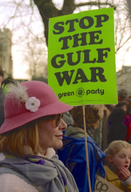 'Stop the Gulf War' Demonstration, Oxford. 1991