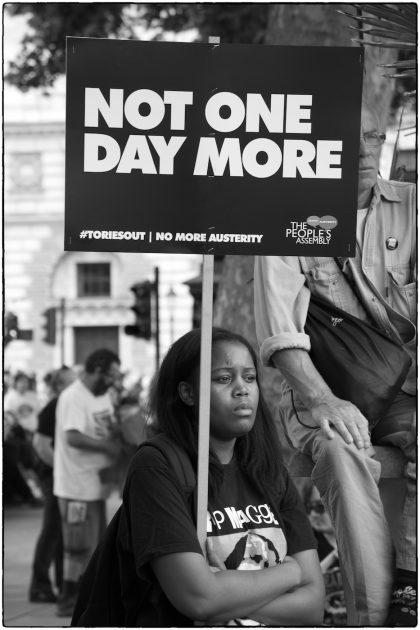 Anti -Austerity Demonstration -London- Gerry Atkinson