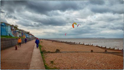 Kite-Surfing, Whitstable- Gerry Atkinson