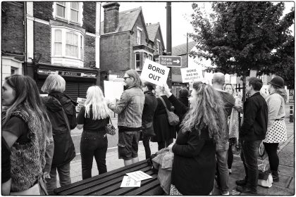 Protest at Whitstable Library - Gerry Atkinson 2019
