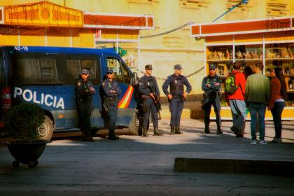 Policia. Seville, Spain.- Gerry Atkinson