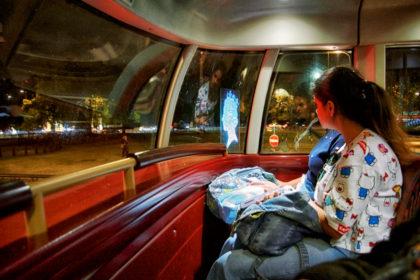 Night bus, London. - Gerry Atkinson