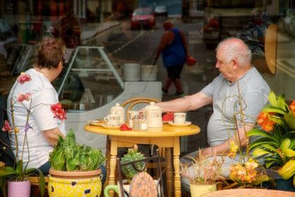 Cafe Window, Deal, Kent.- Gerry Atkinson