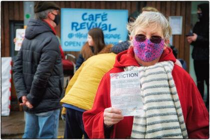 Protest against Cafe Revival Eviction at Horsebridge-2021