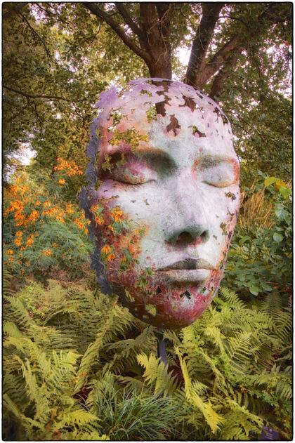 Leaf Spirit Sculpture. Kew Royal Botanic Gardens-  Gerry Atkinson