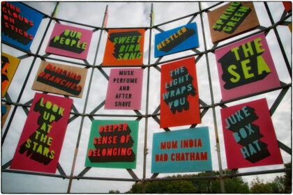 Morag Myerscough's –'Flock of Seagulls Bag of Stolen Chips'- Gerry Atkinson