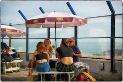 Cafe on the beach- Folkestone - Gerry Atkinson