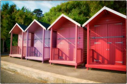 Rana Begum- Painted Beach Huts- Folkestone - Gerry Atkinson